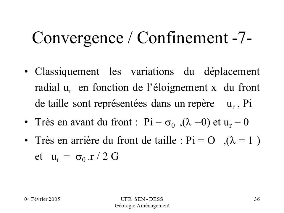 Convergence / Confinement -7-