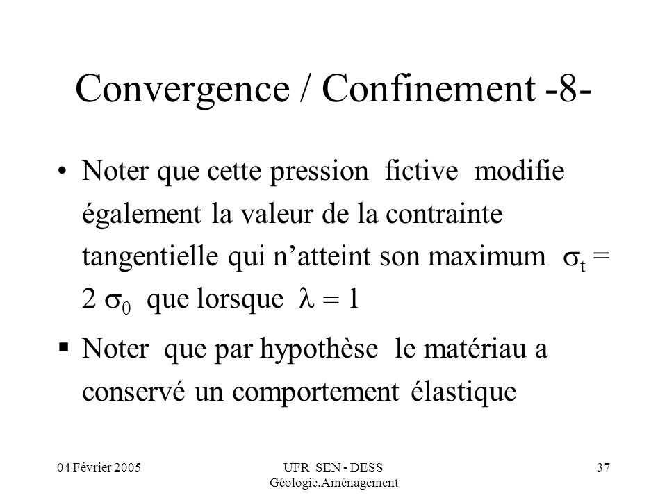 Convergence / Confinement -8-
