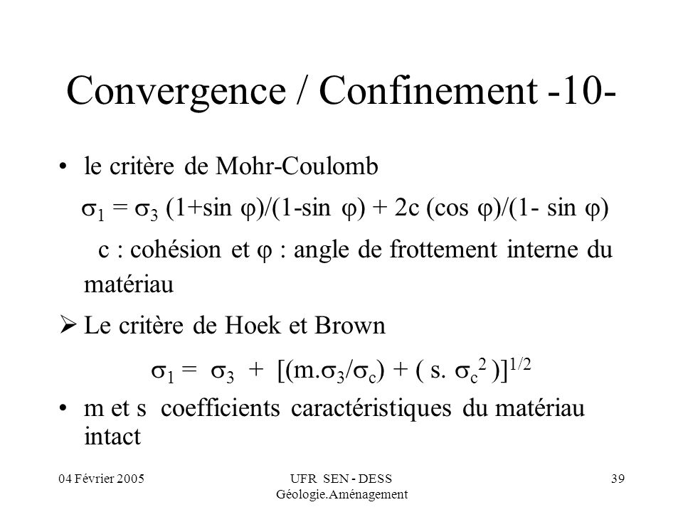 Convergence / Confinement -10-