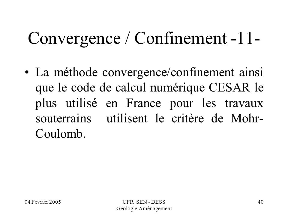 Convergence / Confinement -11-