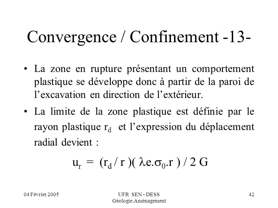 Convergence / Confinement -13-