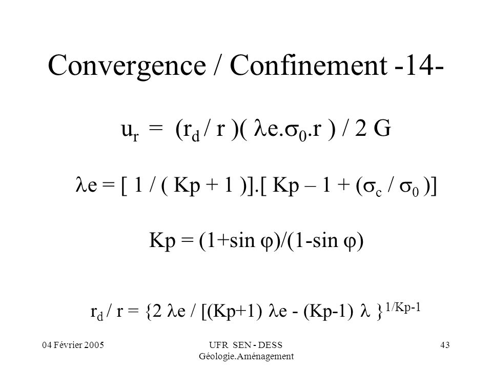 Convergence / Confinement -14-