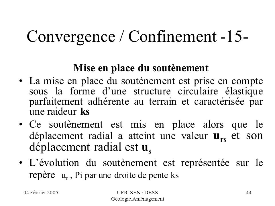 Convergence / Confinement -15-