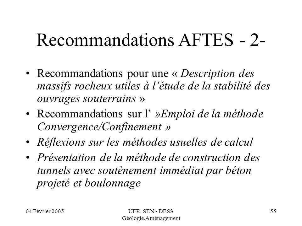 Recommandations AFTES - 2-