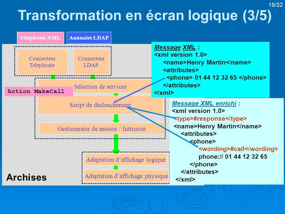 Transformation en écran logique (3/5)