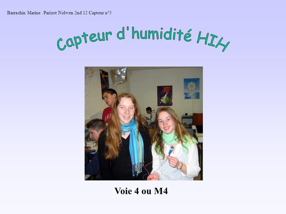 Capteur d humidité HIH Voie 4 ou M4