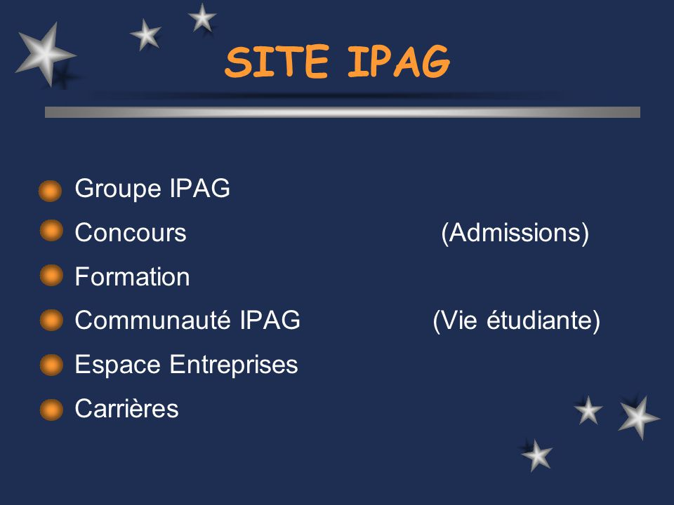 SITE IPAG Groupe IPAG Concours (Admissions) Formation