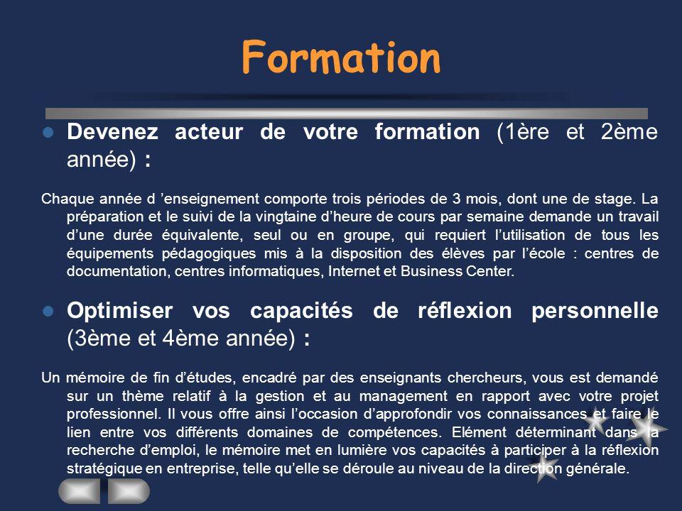 Formation Devenez acteur de votre formation (1ère et 2ème année) :