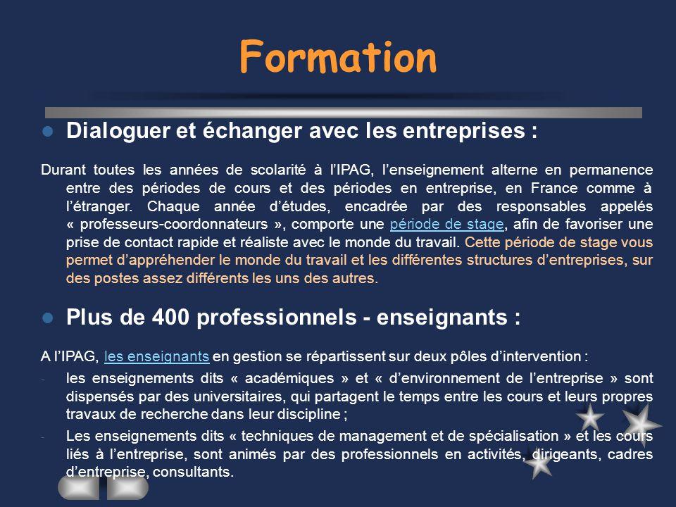 Formation Dialoguer et échanger avec les entreprises :