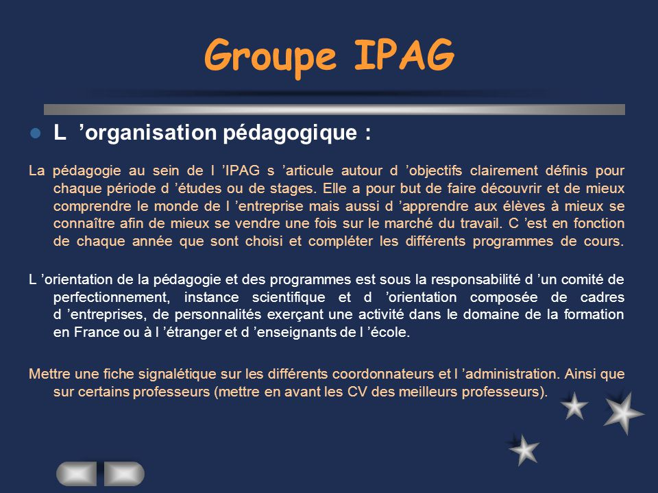 site ipag groupe ipag concours  admissions  formation