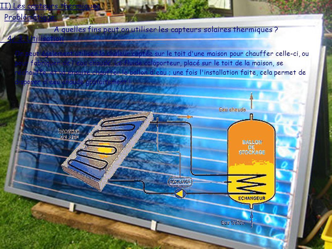 A quelles fins peut on utiliser les capteurs solaires thermiques