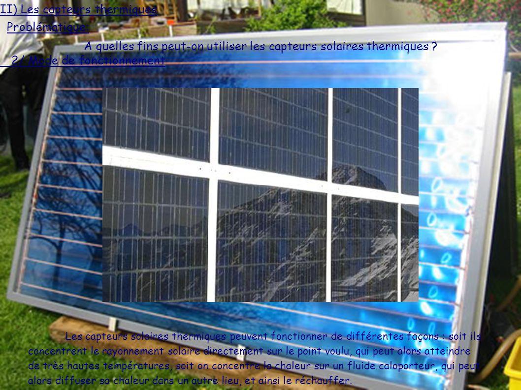 A quelles fins peut-on utiliser les capteurs solaires thermiques