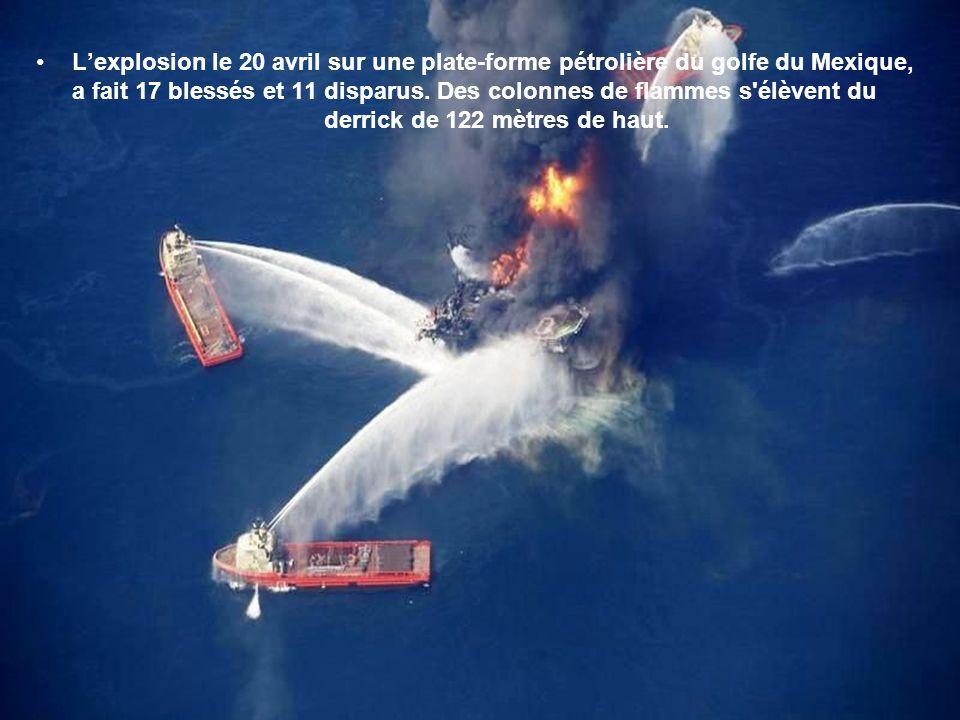 L'explosion le 20 avril sur une plate-forme pétrolière du golfe du Mexique, a fait 17 blessés et 11 disparus.