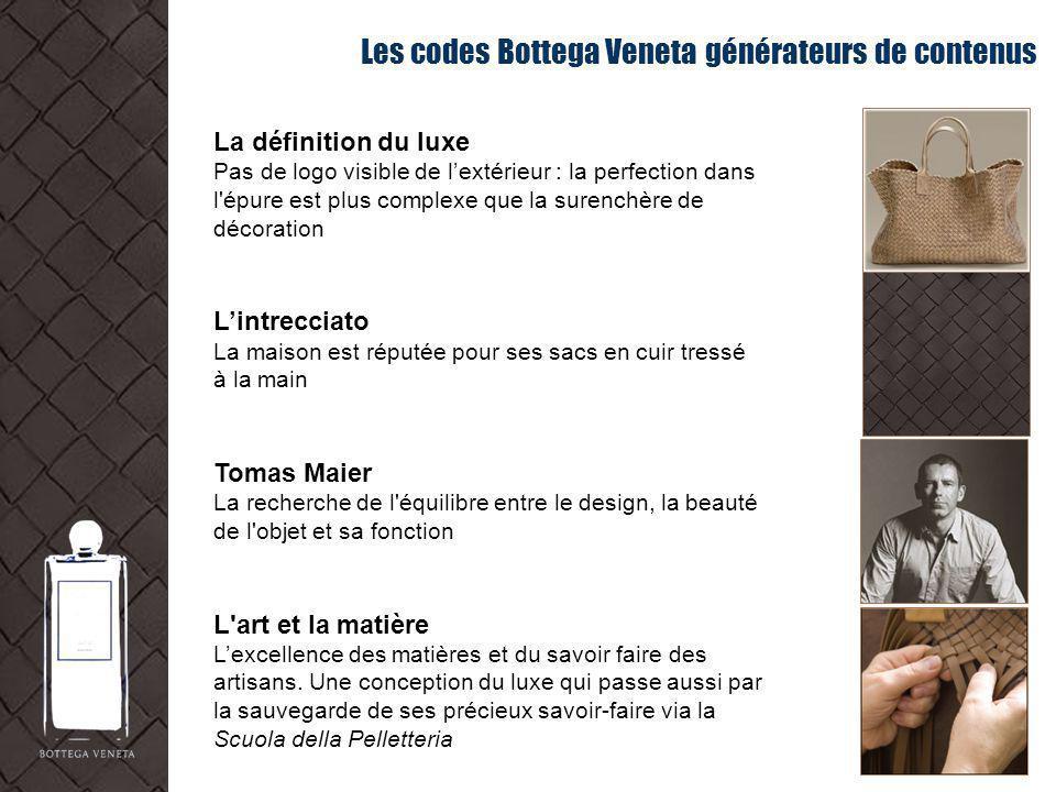 Les codes Bottega Veneta générateurs de contenus