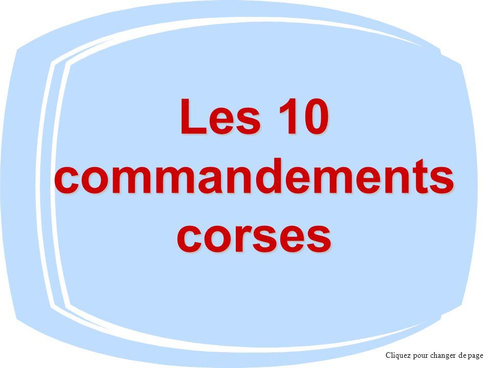 Les 10 commandements corses