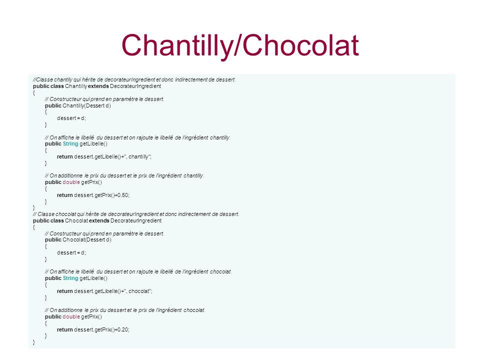 Chantilly/Chocolat