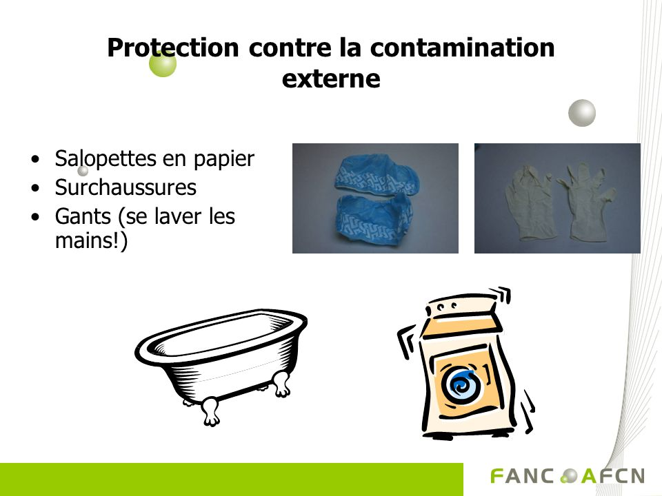 Protection contre la contamination externe