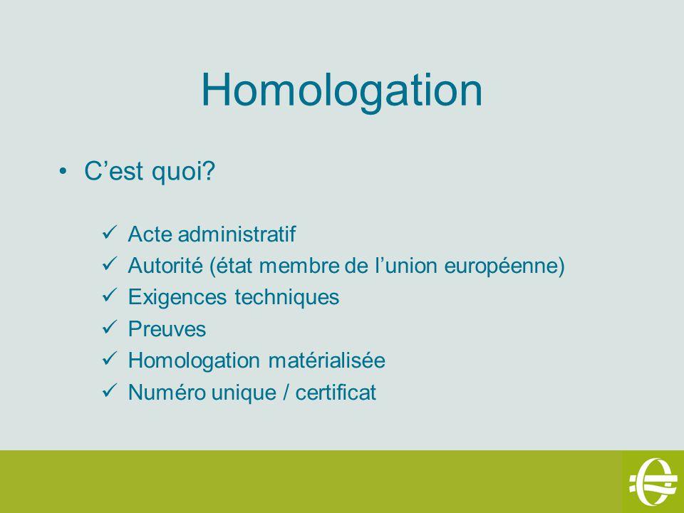 Homologation C'est quoi Acte administratif