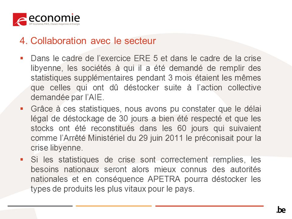 4. Collaboration avec le secteur