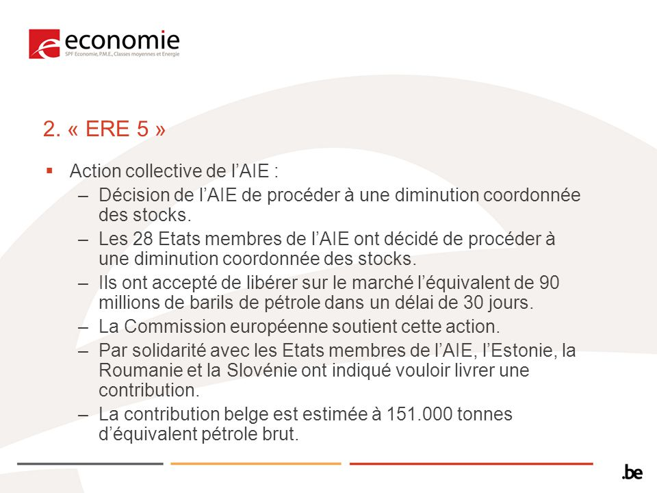2. « ERE 5 » Action collective de l'AIE :