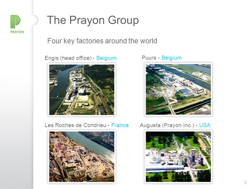 The Prayon Group Four key factories around the world