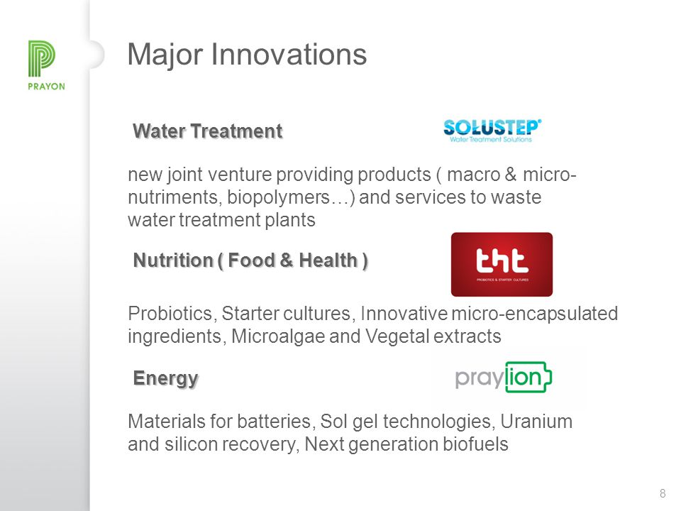 Major Innovations Water Treatment