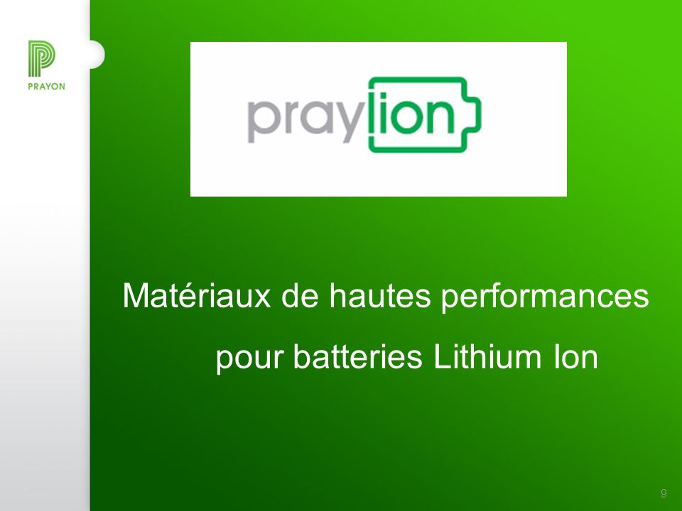 Matériaux de hautes performances pour batteries Lithium Ion