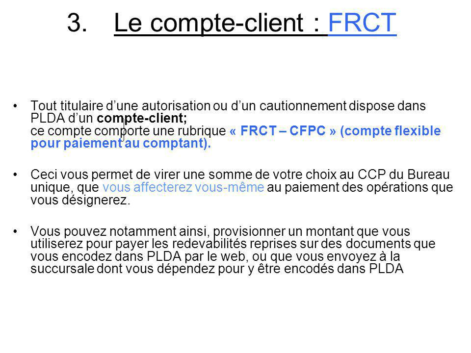 3. Le compte-client : FRCT