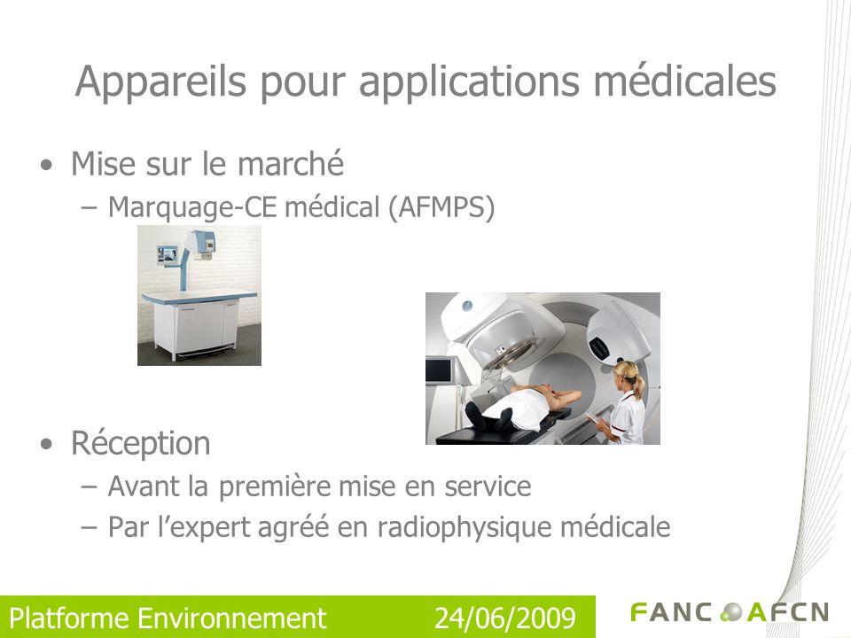 Appareils pour applications médicales
