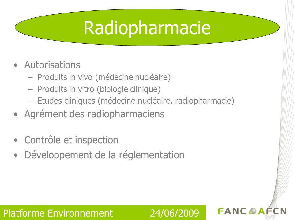 Radiopharmacie Autorisations Agrément des radiopharmaciens