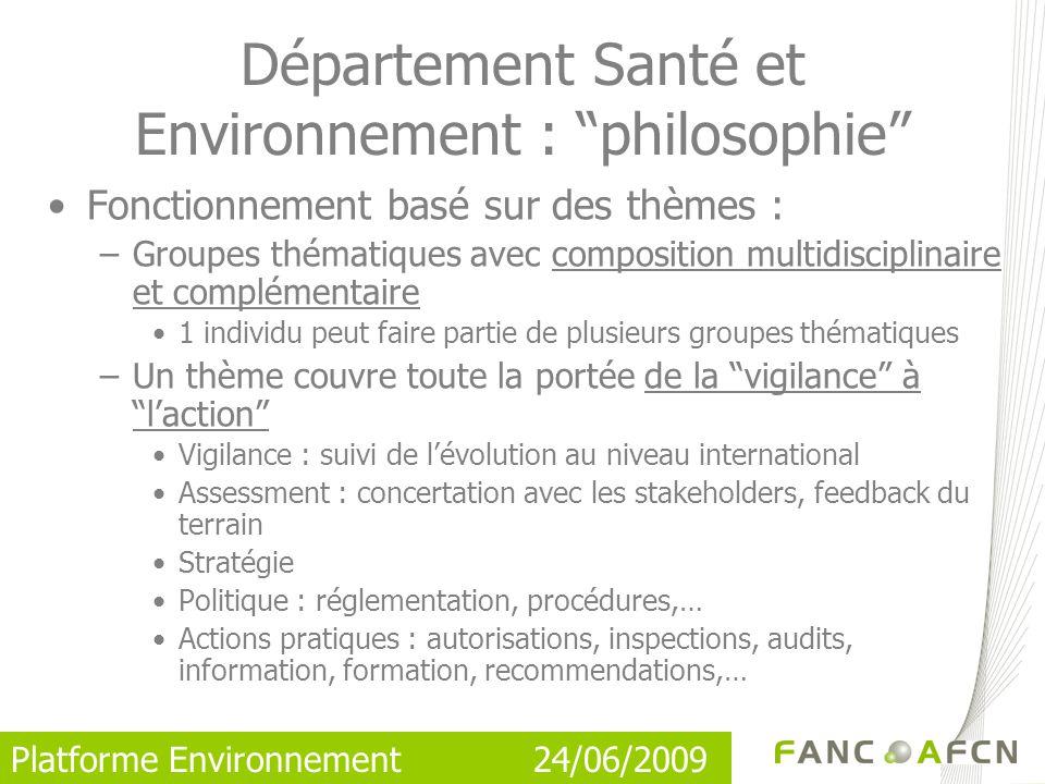 Département Santé et Environnement : philosophie