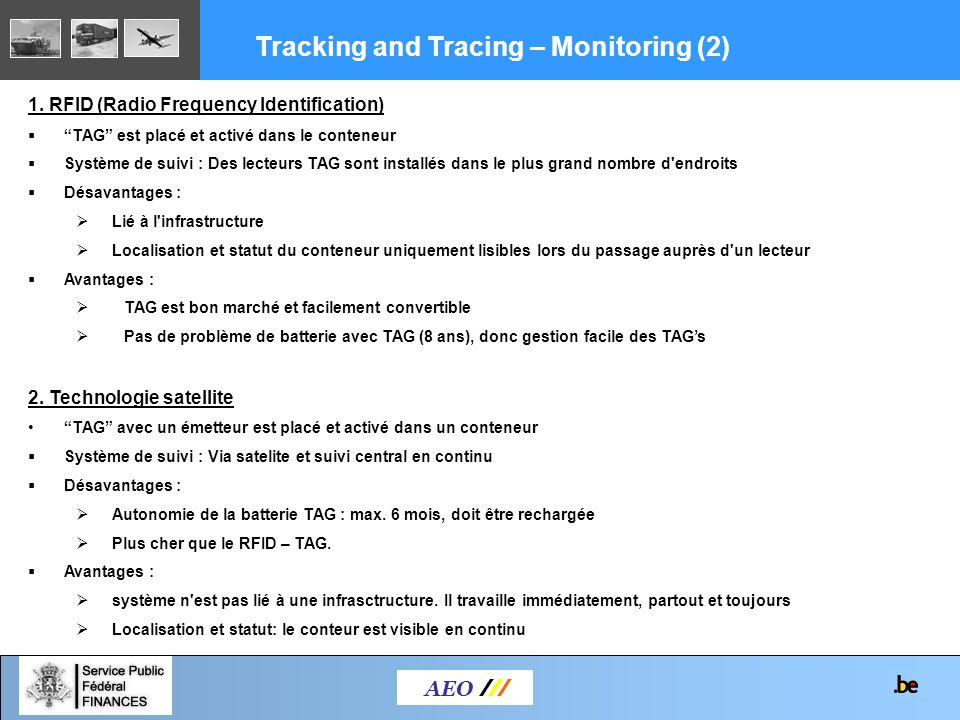 Tracking and Tracing – Monitoring (2)