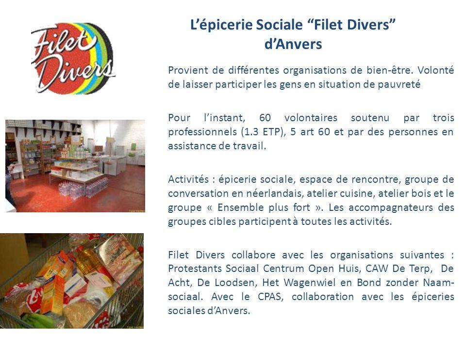 L'épicerie Sociale Filet Divers d'Anvers