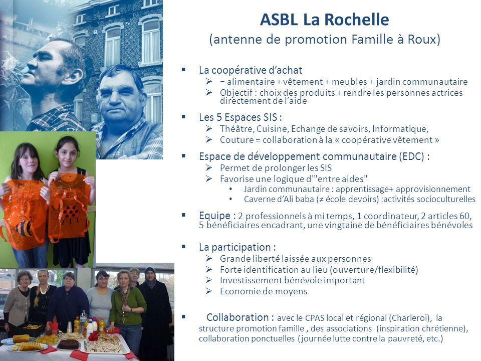 ASBL La Rochelle (antenne de promotion Famille à Roux)