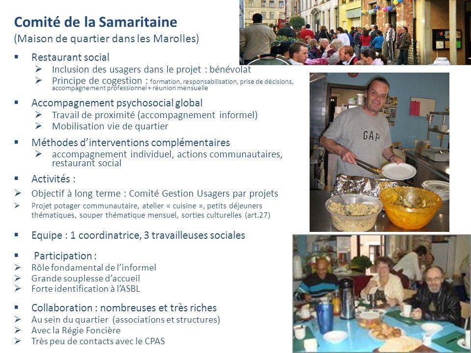 Comité de la Samaritaine (Maison de quartier dans les Marolles)