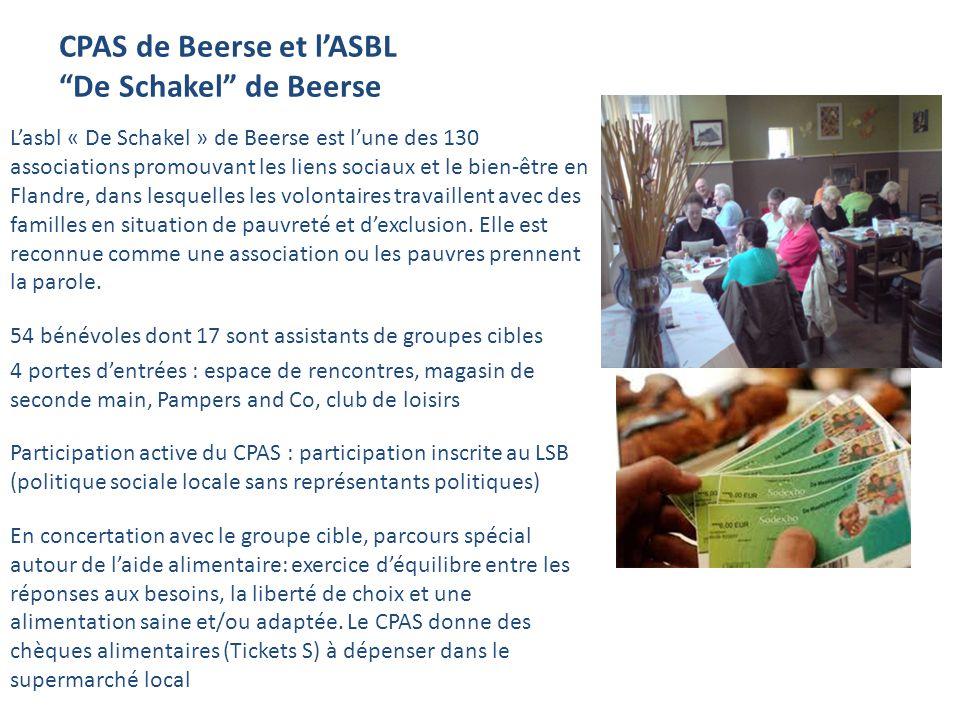 CPAS de Beerse et l'ASBL De Schakel de Beerse