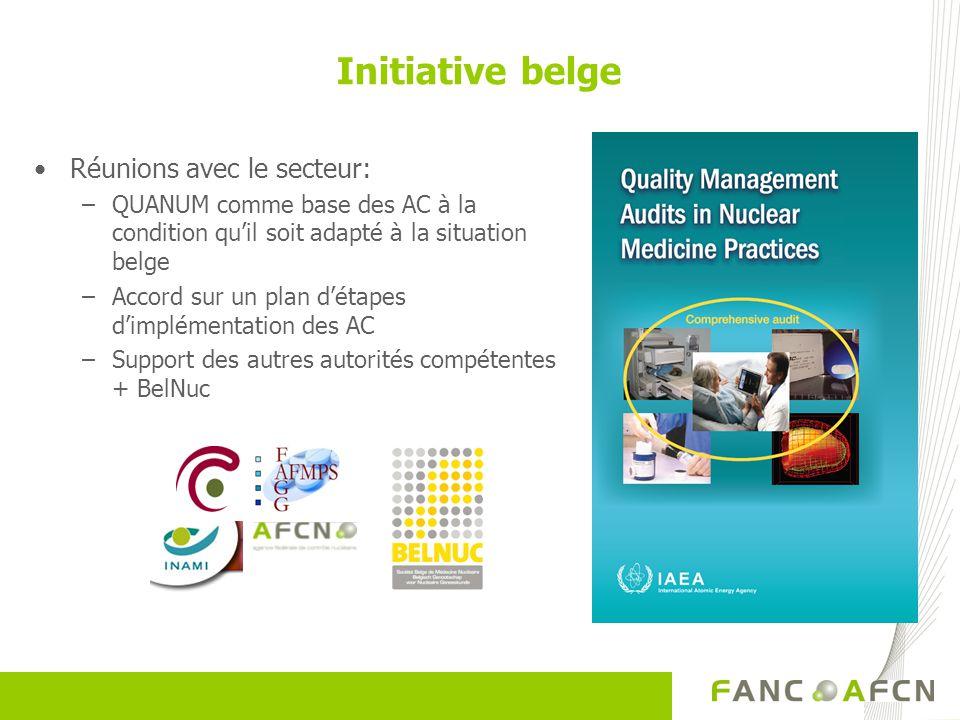 Initiative belge Réunions avec le secteur: