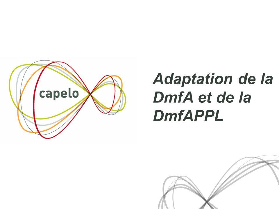 Adaptation de la DmfA et de la DmfAPPL