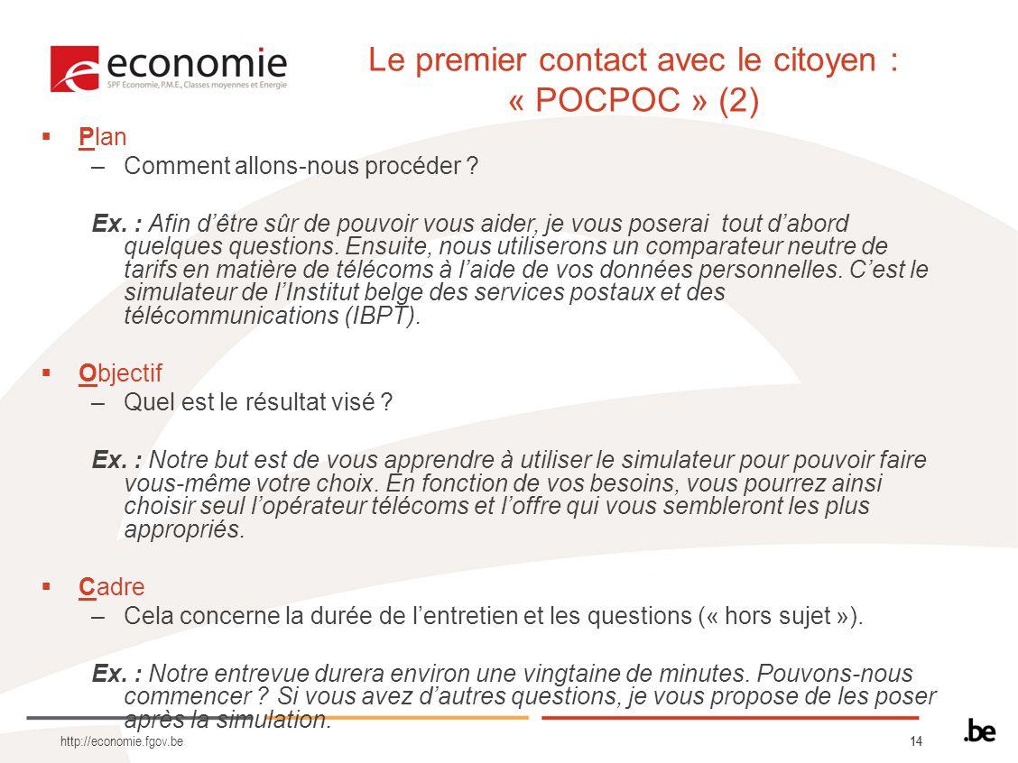 Le premier contact avec le citoyen : « POCPOC » (2)