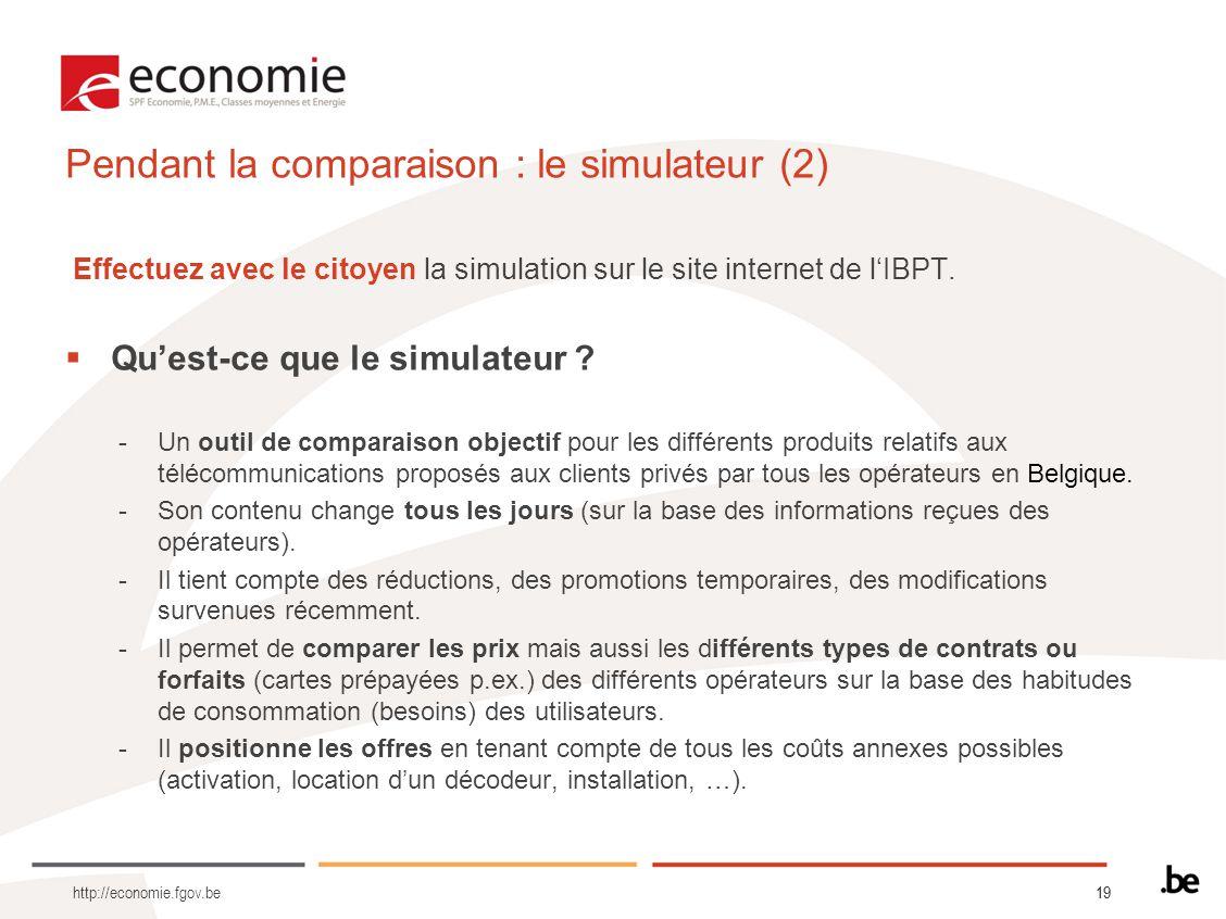 Pendant la comparaison : le simulateur (2)