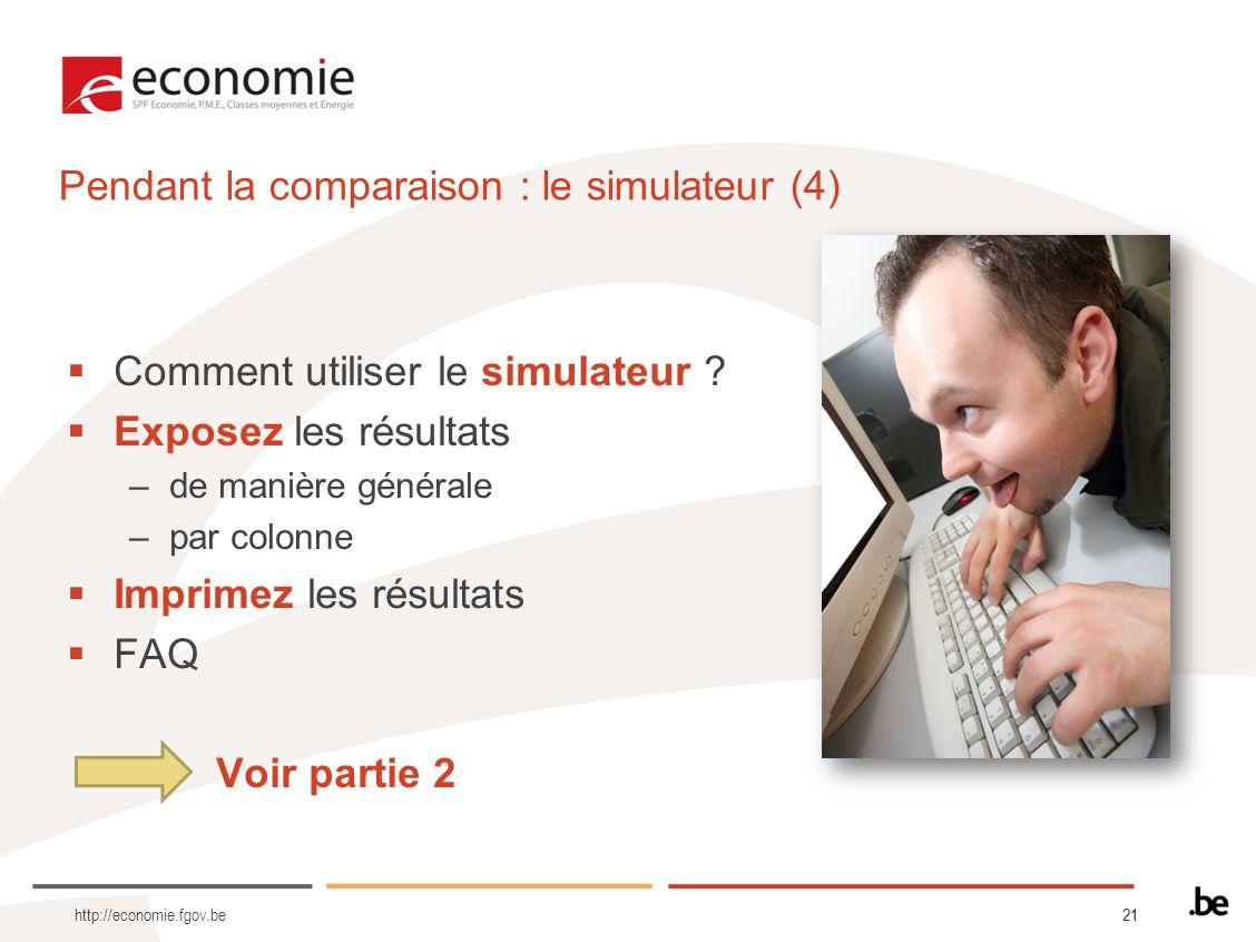 Pendant la comparaison : le simulateur (4)