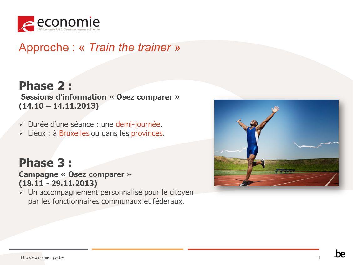 Approche : « Train the trainer »