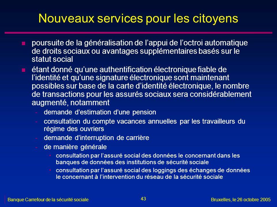 Nouveaux services pour les citoyens