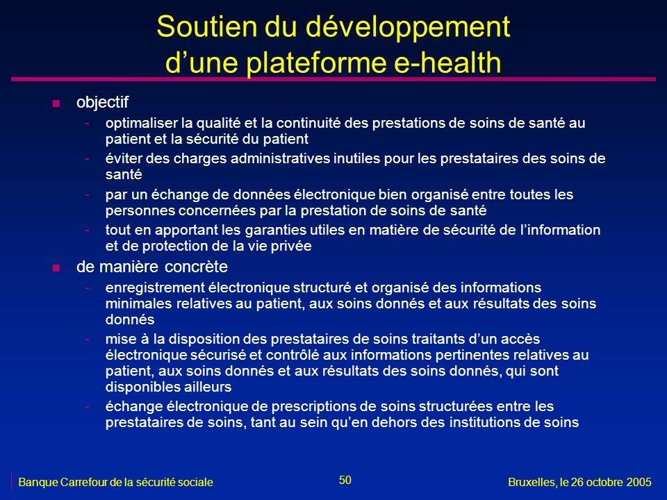 Soutien du développement d'une plateforme e-health