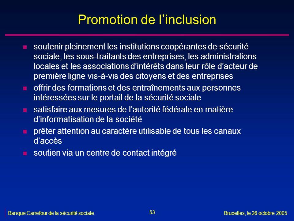Promotion de l'inclusion