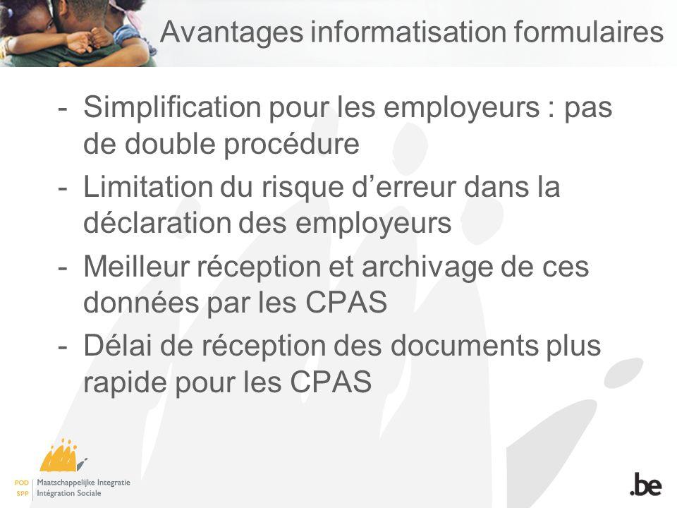 Avantages informatisation formulaires