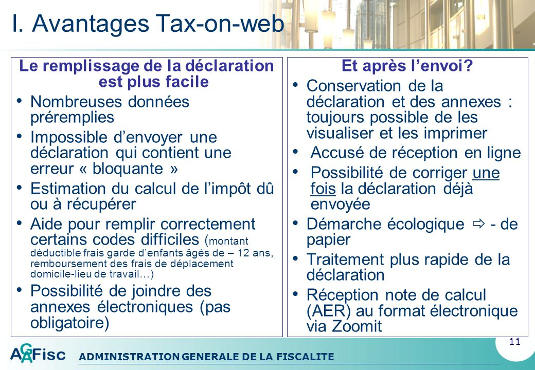 I. Avantages Tax-on-web