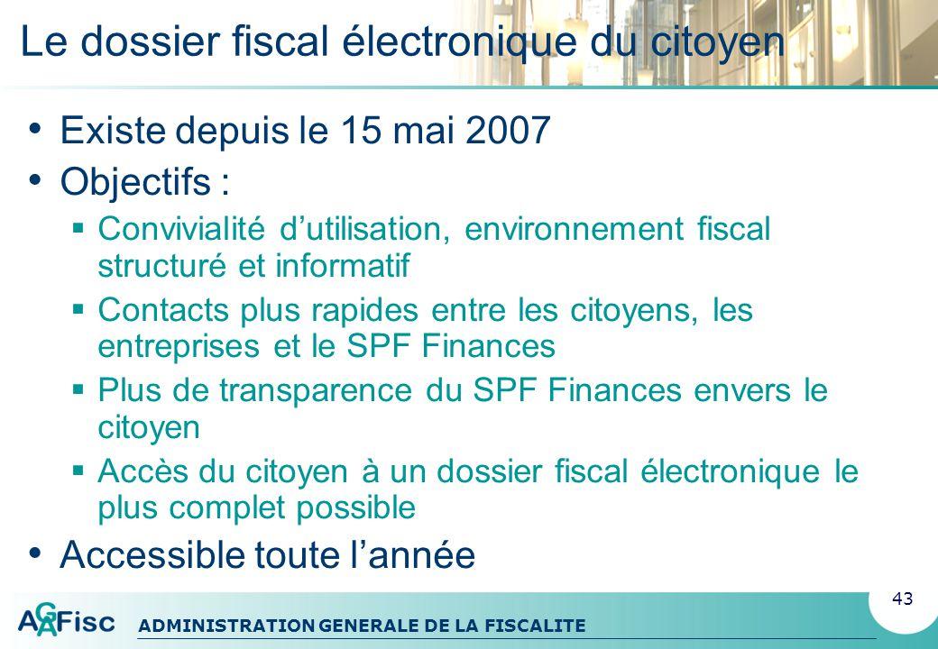 Le dossier fiscal électronique du citoyen