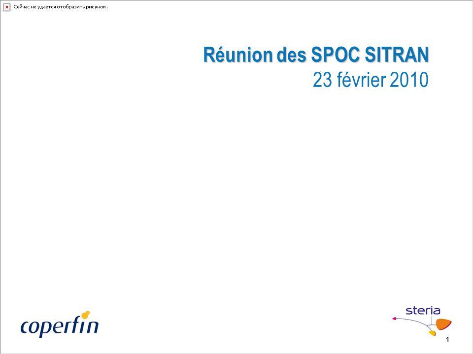 Réunion des SPOC SITRAN 23 février 2010