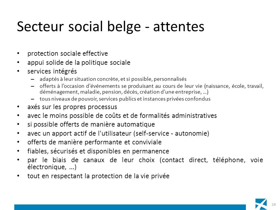 Secteur social belge - attentes